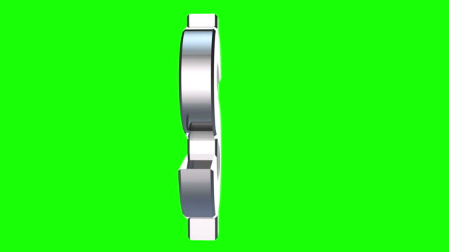 dollar sign on green background video