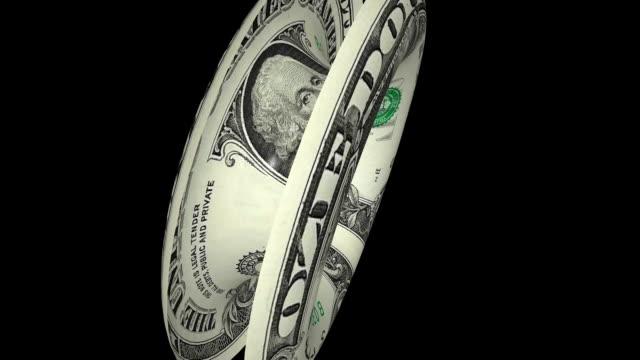 Dollar transforming into life belt on green screen video