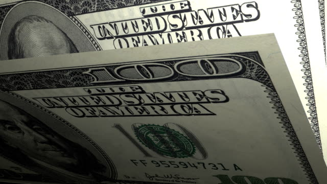100 dollars American local currency paper money video