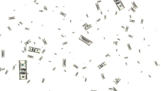 dollars flying in the air - dollar bill стоковые видео и кадры b-roll