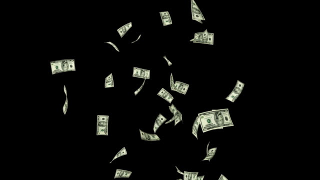 US Dollars Flying Particles, Luma Matte US Dollars Flying Particles, Luma Matte us paper currency stock videos & royalty-free footage