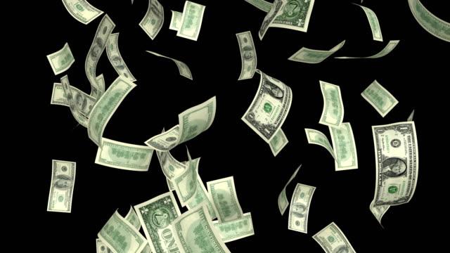Dollars Rain 4K Loop