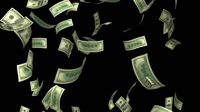 Dollars Rain Loop 4K