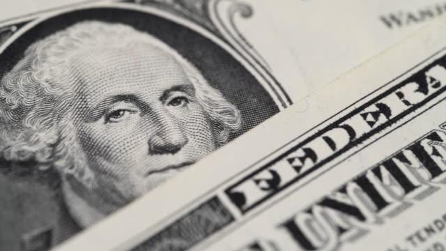 Dollars Close up video of US dollars debt stock videos & royalty-free footage