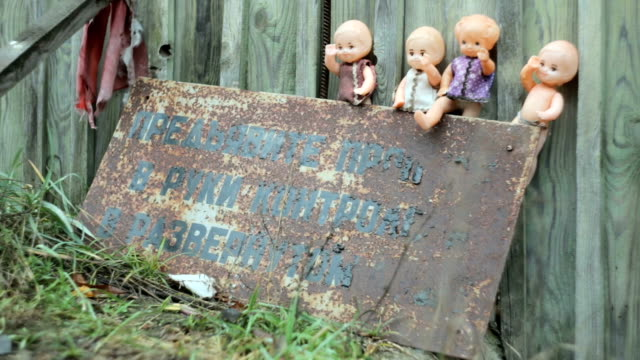 dolls abandoned in the chernobyl zone - rusty stock videos & royalty-free footage