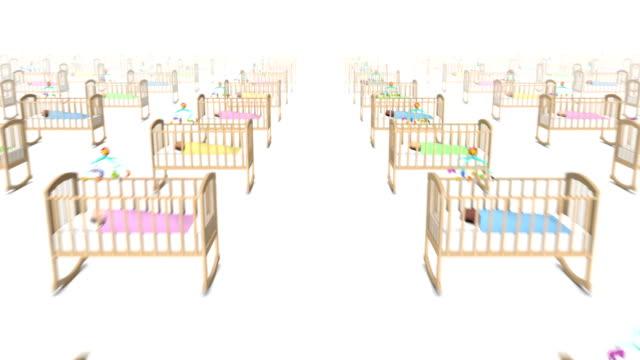 Dolly freuen uns über viele Kinderbetten mit Baby zu übertreffen – Video