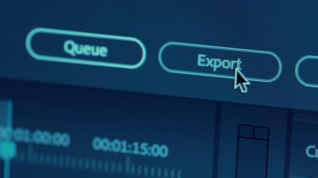 ドリー ショットのマクロのエクスポート] ボタン - 編集者点の映像素材/bロール