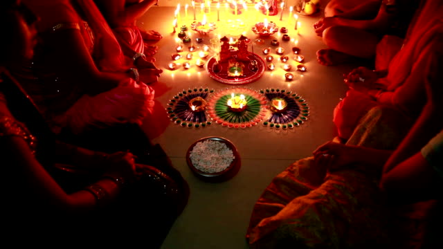 dolly shot, navratri or diwali festival, india - mitologia video stock e b–roll