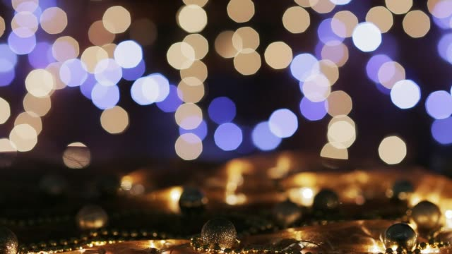 Dolly shot of defocused Christmas lights decoration. Holiday backgrounds Dolly shot of defocused Christmas lights decoration. Holiday backgrounds navidad stock videos & royalty-free footage