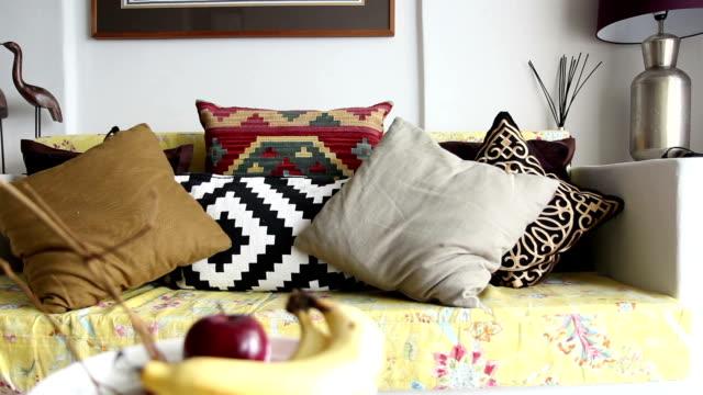 Dolly shot of modern living room video