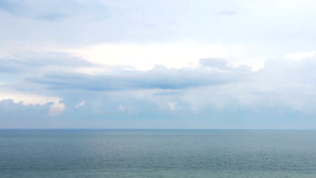 Dolly shot, sea scenery and calm sky after a storm. video