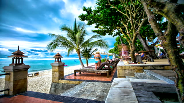 HD dolly Timelapse of Seaside Beach Resort video