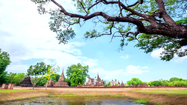 Dolly Time-lapse: Sukhothai historical park Thailand video