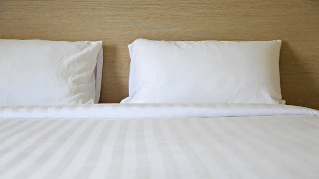 HD Dolly:Pillows placed on the bed. video