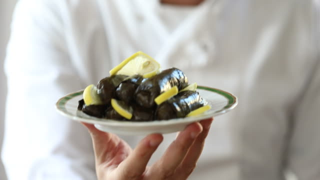 Dolma dish served by the chef (Traditional Turkish tapas) video