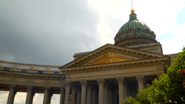 Dome and columns of the Kazan Cathedral in St. Petersburg video
