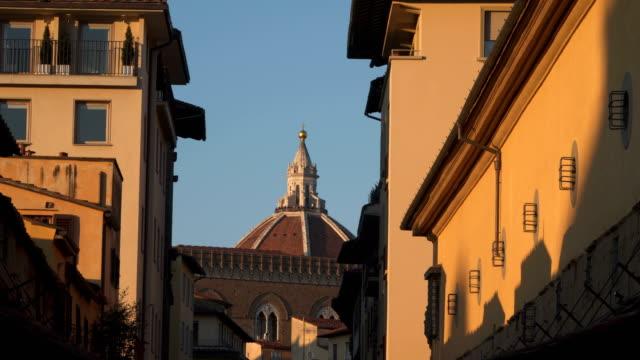 Dome of Cattedrale di Santa Maria del Fiore at sunset video