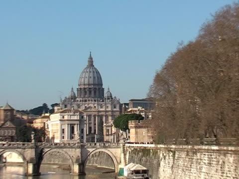 Dome of Saint Petro basilica in Rome video