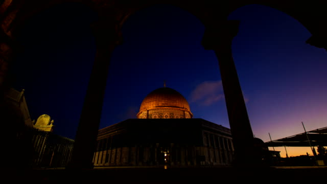 dome of the rock qubbet el sakhra - eid mubarak stock videos and b-roll footage