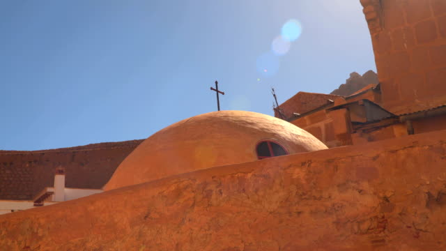 Dome with a cross in the monastery of St. Catherine video