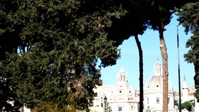 domes near Piazza Venezia, Rome video