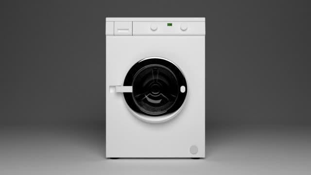 haushaltswaschmaschine türöffnung - waschmaschine stock-videos und b-roll-filmmaterial