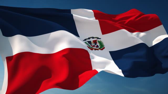 4 K der Dominikanischen Republik Flagge-Schleifen einsetzbar – Video