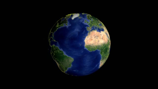 dominican republic with flag. 3d earth in space - zoom in dominican republic outer - geografia fisica video stock e b–roll