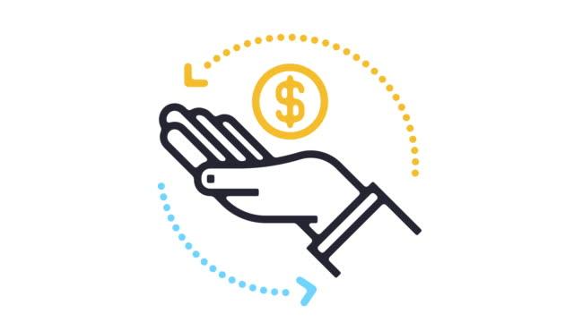 Donate Line Icon Animation