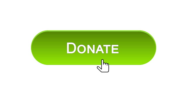 Donate web interface button clicked with mouse cursor, different color choice