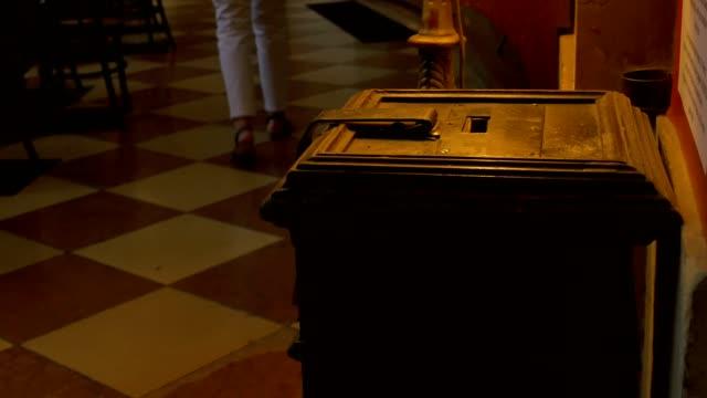 Donations Box in Church video