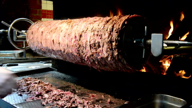 doner kebab in turchia - spiedino video stock e b–roll
