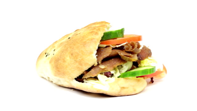 doner kebab - spiedino video stock e b–roll
