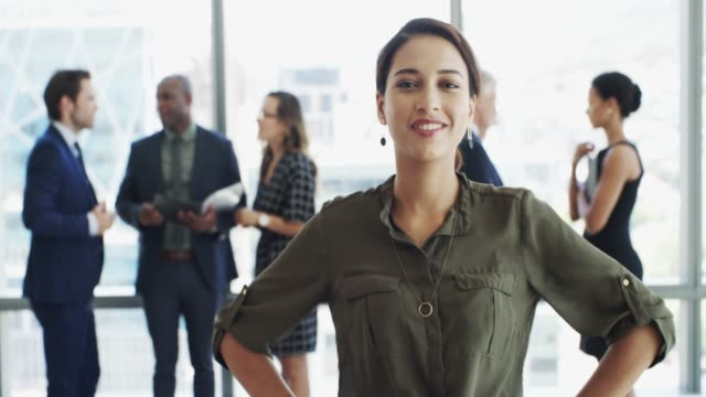Don't hesitate, just do! 4k footage of a businesswoman stepping forward individuality stock videos & royalty-free footage