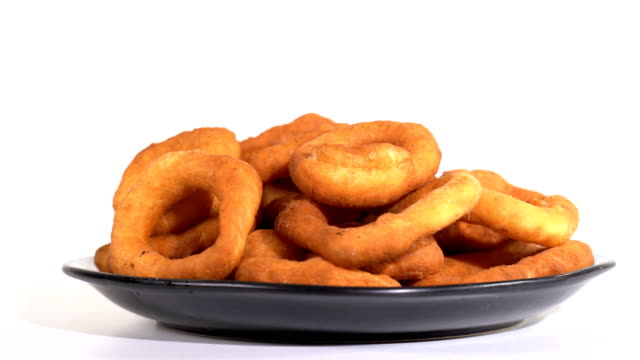 Donuts in a plate on the table