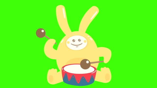 Doodle Hare With Drum video