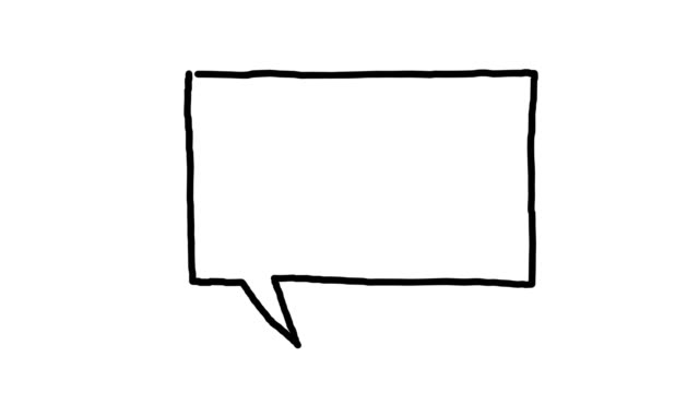 Doodle speech bubble animation on white Doodle speech bubble on white background, popping at the end speech bubble stock videos & royalty-free footage
