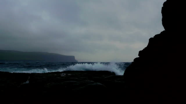 Doolin Coastline And Cliffs Of Moher At Bad Weather video
