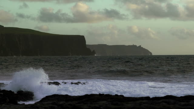 Doolin Coastline And Cliffs Of Moher At Strong Wind video