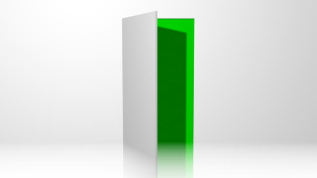 Door 01 White Open with Chroma Green Transition video