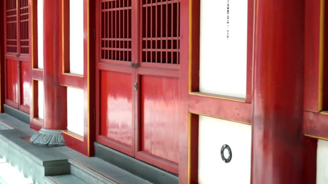 door and windows in buddha tooth relic temple at singapore - vintage architecture stock videos & royalty-free footage