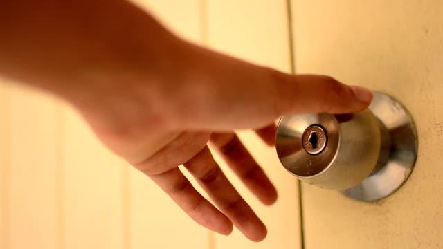 Door handle Door handle handle stock videos & royalty-free footage