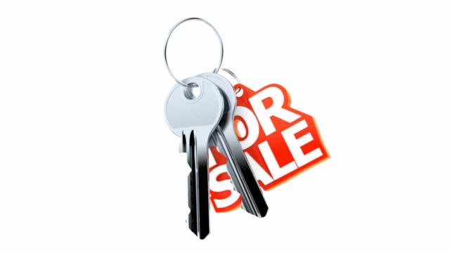 문 키를 판매 펜 던 트 - home 스톡 비디오 및 b-롤 화면