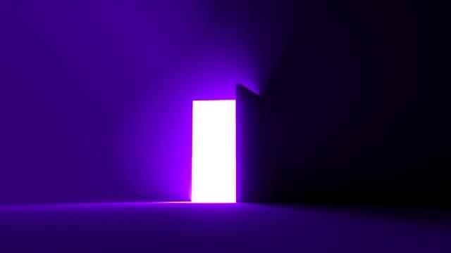 door open to bright light new opportunity epiphany afterlife 4k - paranormalny filmów i materiałów b-roll