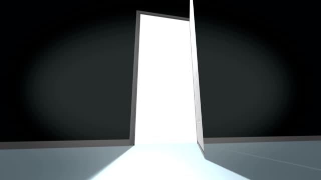 Door opening animation video