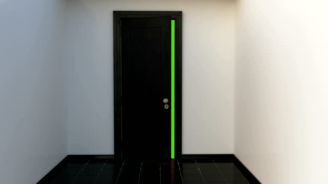 Door opening with Alpha Channel and green screen