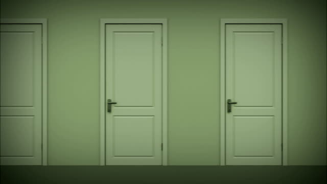 Doors opening and closing looped animation. Alpha mask. HD 1080. video
