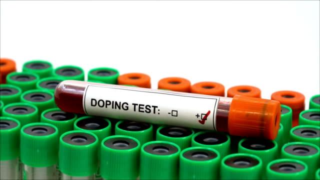 doping testi pozitif - doping stok videoları ve detay görüntü çekimi