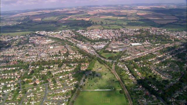 Dorchester Roman Arena  - Aerial View - England, Dorset, West Dorset District, United Kingdom video