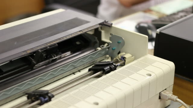 Dot Matrix printer documents. video